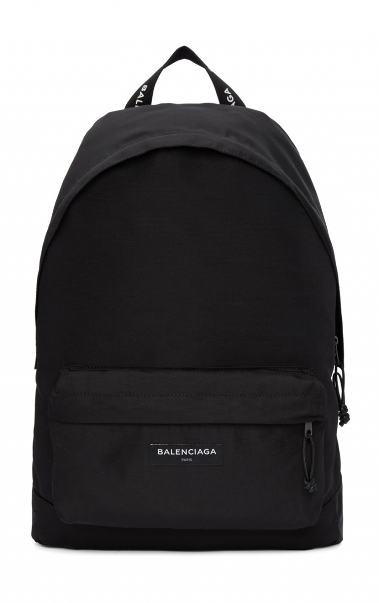 Balenciaga: Black Nylon Explorer Backpack
