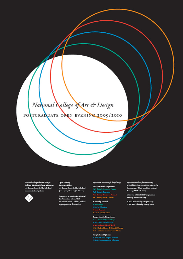 Conor & David: NCAD Postgraduate Poster
