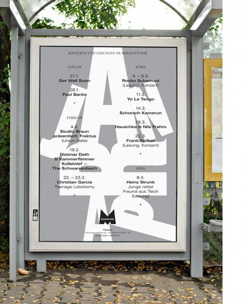 HORT - Mousonturm Konzert Plakate