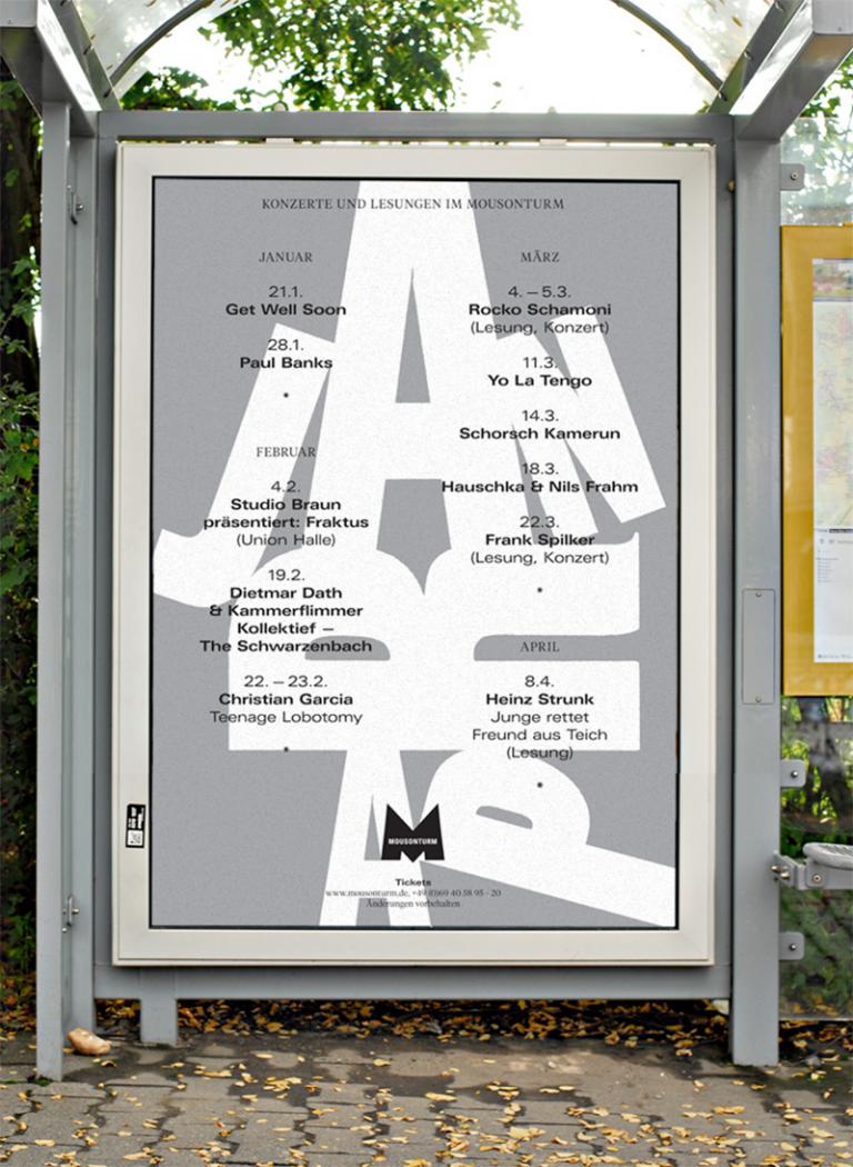 HORT: Mousonturm Konzert Plakate