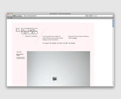 HelloYou: Electricgecko / electricgecko.de