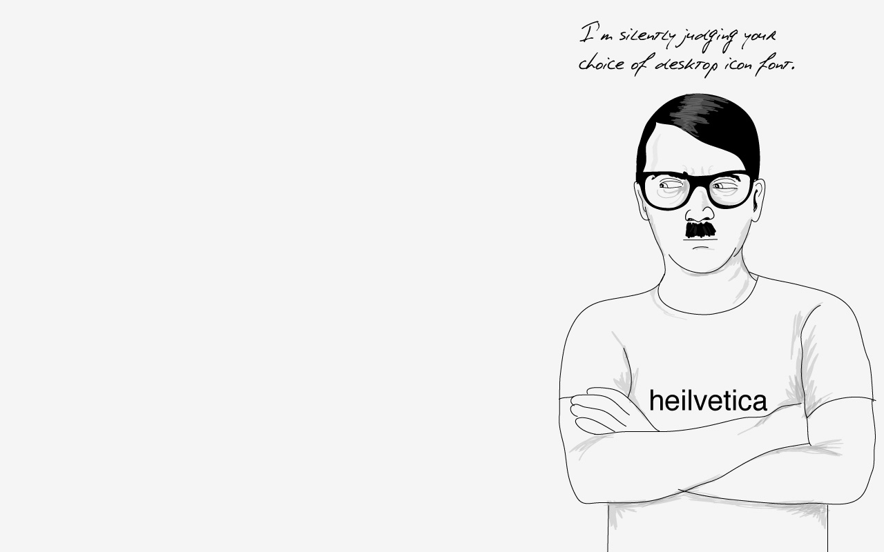 Hipster Hitler: Wallpaper | Sgustok Design