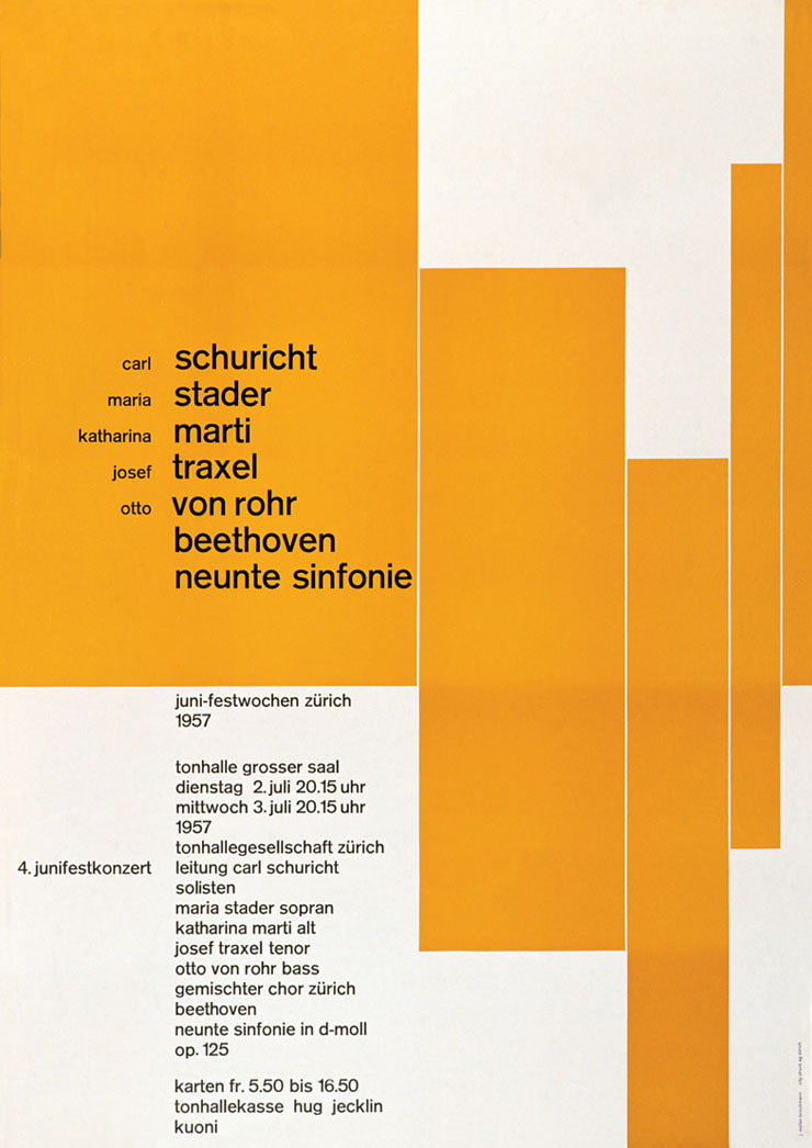 Josef Müller-Brockmann: Posters