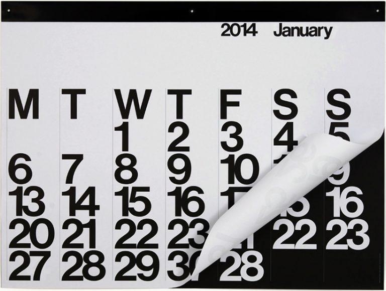 Massimo Vignelli: Stendig Calendar